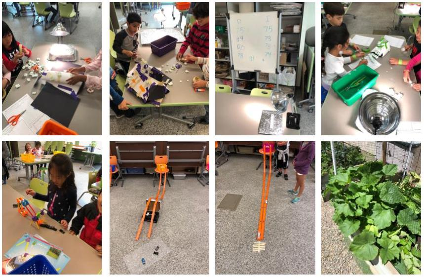 kids building knex project