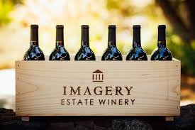 Imagery Wines in wood case